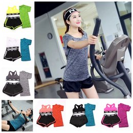 Wholesale Runners Knee - Pink Letter Tracksuits Women Pink Letter Bras Pants T Shirts Pink Sports Sweat Suit Vest Shorts Tops Runner Jogging Sportswear OOA4795