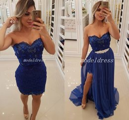 6e574122a87a2 black mini dress detachable train Coupons - 2019 Navy Blue Sheath Prom  Dresses With Detachable Train