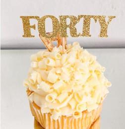 2020 decorazioni personalizzate di cupcake glitter numero personalizzato glitter One primo compleanno cupcake toppers battesimo battesimo decorazione del partito ciambella cibo scelte decorazioni personalizzate di cupcake economici