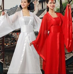 2019 chinese trajes tradicionais mulheres Frete grátis Novo Chinês Cosplay Mulheres Tradicionais Vestido De Dança Traje princesa Dramaturgic Costume Hanfu Chinês Vestido desconto chinese trajes tradicionais mulheres