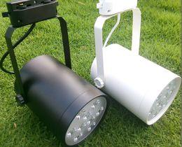 Wholesale Pendant Spotlights - 9W LED Track Rail Spotlight AC85-265V Kitchen Pendant Lampada 9x1W High Power LED Spotlights Lamps Red Blue Green Warm white