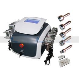 face máquina de massagem emagrecimento Desconto Chegada nova 6 em 1 Vacuum RF Lipoaspiração Ultrasonic Slimming 40 K Máquina de Cavitação Multipolar Biopolar Radiofreqüência Rosto Massagem Corporal
