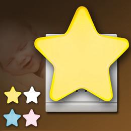 luz de noite em forma de estrela Desconto DHL Led Forma de Estrela Luz de Parede Lâmpada Piscando Luzes Da Noite Para As Crianças Decoração Do Partido Interruptor de Sensor Automático de Decoração Para Casa Presente HH7-1803