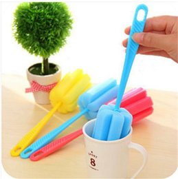 Wholesale Bottle Handling - Cheapest Unpackaged bare cup brush high quality durable sponge cup brush long handle bottle cleaning cup and kitchen cleaning brush
