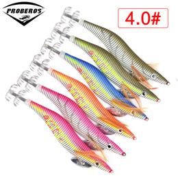 Gancho de calamar 8cm online-6pc Squid Jigs PRO BEROS Señuelo de la marca de fábrica exportado a Usa Market Fishing Tackle 6 Color 5.5g-21.56g, 8cm - 15cm, 2.0 # - 4.0 # Hook