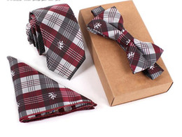 Slim Tie Set Herren Fliege und Einstecktuch Fliege Krawatte Cravate Taschentuch Papillon Man Hombre Suits von Fabrikanten