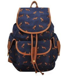Wholesale Floral School Bags - On Sale Canvas Backpack School Bag Floral Casual String Travel Bohemian Preppy Style Woman National Multi-pattern WZ001-11