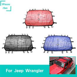 Argentina Sombrilla del coche Red de protección solar para Jeep Wrangler 4 puertas 2007-2017 alta calidad Auto exterior accesorios Suministro