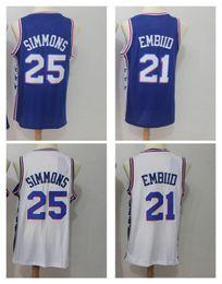 Wholesale Kids Polo Shirts - Youth #25 Ben Simmo #21Joel Embiid Basketball Jerseys 2018 New Season Fan version Fashion Children Jersey Size S-XL KID BOYS polo shirt