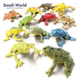 12 pz Kawaii Mini Rane Figurine Fata Giardino Moss Terrario Home Decor Artigianato Bonsai Bottiglia Fai Da Te In Resina Miniature Animali Statua da