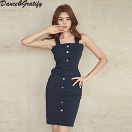 364540c126a Fashion 2018 Women Single Breasted Office Work Two Piece Set Solid Sexy  Spaghetti Strap Top + Slim Bodycon Skirt Set