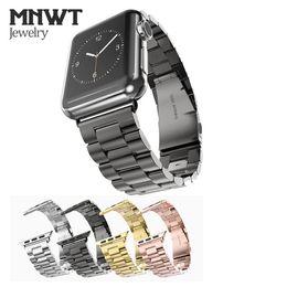 2019 armband für iwatch MNWT Für Apple Watch Strap 38mm 42mm Schwarz Goldene Edelstahl Armband Band Ersatz Armband für iwatch Serie 1 2 3 günstig armband für iwatch