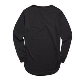 maglietta manica piena nera degli uomini Sconti Moda pollice foro manica lunga a maniche lunghe T-shirt Kpop per uomo T -shirt Solid Hip Hop Street T Shirt Black Hold Hand Mens Tshirt Vendita calda