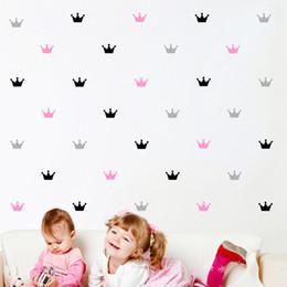 2019 tarros de cristal Etiqueta engomada del patrón de la corona 24pcs para la decoración del dormitorio del niño, calcomanía de pared del cuarto de niños del bebé de la princesa, etiquetas de Mason Jar Girly, s1 tarros de cristal baratos