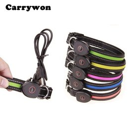 Wholesale Cool Pet Collars - Carrywon Pets Cool LED light Dog Collars Night Safety Outgoing Lamplight Pet Dog Harness Neck Collar Necklet