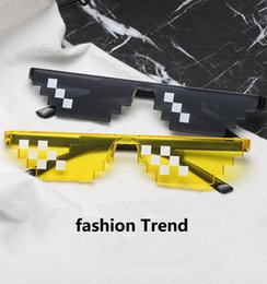 Wholesale pc party - Deal With It Glasses 8 bits Mosaic Pixel Plastic Party Sunglasses Men Women Party Eyewear Dealwithit thug life Popular Around the World