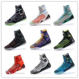 Wholesale Sale Weave - Cheap Sale Retro kobe 9 High Weaving BHM Easter Christmas Basketball Shoes for AAA+ quality Mens KB 9s Fashion Sports Sneakers Size 40-46