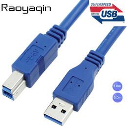Cable de extensión tipo b usb online-Alta calidad USB 3.0 A Macho AM a USB 3.0 B Tipo Macho BM Extensión Cable de impresora Cable USB3.0 3m 5m