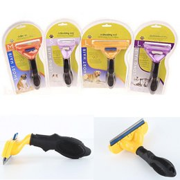 Wholesale Comb Rake Blade - Pet Grooming Brush Hair Remover Pet Comb Dog Cat Brush Pet Grooming Tools Stainless Steel Trimming Blade for Cats Dogs Short Medium Long Fur
