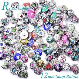 Canada 50 PCS 12 MM Rivca Snaps Bouton Bijoux Strass Perles En Vrac Style Mixte Fit Pour Noosa Bracelets En Cuir Collier Bijoux Accessoires De Bricolage Offre