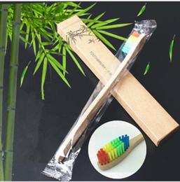 4 couleurs Brosse à dents en bambou naturel Brosse à dents en bois écologique Tête en poils doux Poignée en bambou Brosse à dents Oral Care ? partir de fabricateur