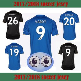 Wholesale Quality Soccer Balls - Thailand quality 2017201817 Leicester 18 ball shirt Vardy Mahrez Drinkwater kantia king hutm blue free delivery