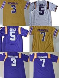 Factory Outlet- Men s Guice5 Fournette 7 Beckham Jr. 3 Authentic College Football  Jerseys Size S-XXXL Mix order b54f965d5