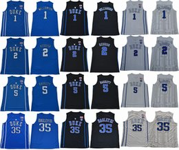 2018 Duke Blue Devils College Basketball Jersey 1 Zion Williamson 2 Cam Reddish 5 RJ Barrett 35 Marvin Bagley III Home Stitched Jerseys