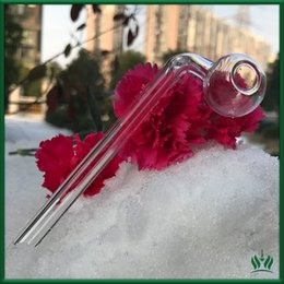 Wholesale Shipping Tubes Wholesale - 12CM glass pipe clear glass oil burner glass tube smoking pipes oil nail somking pipes water pipes free shipping
