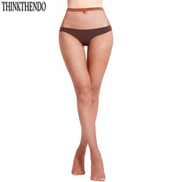 Wholesale Sexy Toes Tights - THINKTHENDO Womens Sexy High Elastic Mesh Toe Silk Stockings Control Top Tights Panty Hose