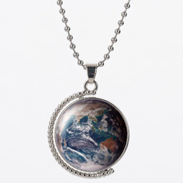 Materiales de puesta a tierra online-LVB37 patrón de tierra del suelo 25mm material de resina colgante y 45cm cadena de plata 925 para collar de mujer regalo de cumpleaños