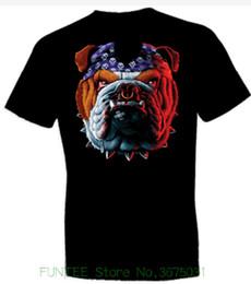 bandana de chien noir Promotion Femmes T-shirt Tuff Dog Bull Dog avec un bandana noir ras du cou à manches courtes T-shirt Vente chaude femmes vêtements Tops Tee