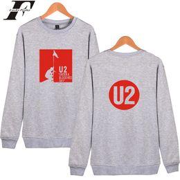 Wholesale Rocky Hoodie - U2 Mens Harajuku Sweatshirt Pullover Hoodie And ROCKY Band U2 K Pop Womens Capless Hoodys Clothes Hot Sale Hoodies