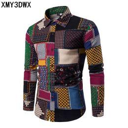 Aeneontrue Mens Shirt 3D Printed Button Down Long Sleeve Casual Slim Fit Stylish Dress Shirts
