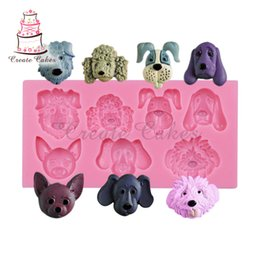 dog silicone cake mould Coupons - Animal Dogs Head Silicone Chocolate Mould,Fondant Baking Cake Supplies,Sugar Mould Tool,Silicone Mold Decoration Tool SM-065