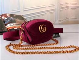 Wholesale Girls Velvet - 2018Autumn And Winter style Most populur luxury handbags women bag designer mini messenger bags Cross body Shoulder velvet girl waist bag