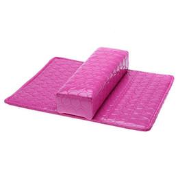 almofada de almofada de braço Desconto Almofada de Mão macia Travesseiro E Almofada de Descanso Da Arte Do Prego Resto do Braço Titular Manicure Acessórios Da Arte Do Prego PU de Couro Rosa Vermelha