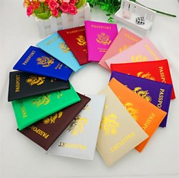 Wholesale Passport Protector Cover - Hot Sales American Passport cases Wallets Card Holders Cover Case ID Holder Protector PU Leather Travel 14 Colors passport cover 4646