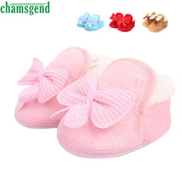 Wholesale Baby Best Sellers - CHAMSGEND Best Seller Infant Baby shoes Walking Toddler Girls Boys Crib Shoes Soft Boots S35
