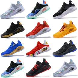 d37c208d0989 New Under Armour UA Curry 4 Low Oreo mens basketball shoes Final Curry4  Athletic Sports Sneakers trainers outdoor designer shoes Eur 40-46
