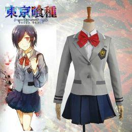 Traje de cosplay touka on-line-Anime Shimban Tokyo Ghoul Kirishima Touka Cosplay Traje Uniforme Escolar