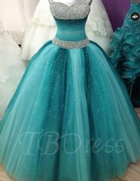 Wholesale Leather Jacket Size 12 - Spaghetti Straps Ball Gown Beading Floor-Length Quinceanera Dress prom