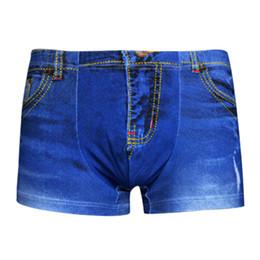 Wholesale Men Underwear Sexy Grey - 2017 Sexy Underwear Men 3D cowboy Printed Cotton Underpants Mens underwear Trunks Pouch Boxers Shorts men's cuecas Boxer W5