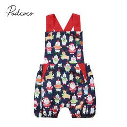 macacão de urso bebê Desconto 2018 Brand New Natal Verão Da Criança Do Bebê Meninas Menino Romper Sem Mangas Colorido Urso Backless Macacões Playsuit Sunsuit 0-24 M