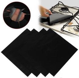 2019 pentole in gomma 4 pezzi riutilizzabile foglio di alluminio stufa a gas bruciatore copertina protettore fodera pulita mat pad file lesioni protezione