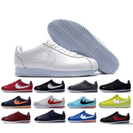 Wholesale Shell Toes - famous brand Casual Shoes men and women cortez shoes leisure Shells shoes cortez QS breathable Leather fashion outdoor Sneakers Eur 36-44