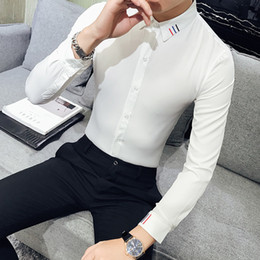 4c915ae8787 Mens Shirts Long Sleeve Casual Button Down Clearance Shirts For Men High  Collar Big And Tall Large Size S-5XL