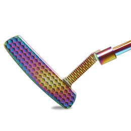 Rechtshändige putter online-Golfschläger Putter Rechtshänder Stahl Material Colorful Einstellbare Gegengewicht Putter Verteilung Headcover