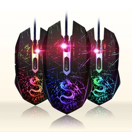 Wholesale Brand Computer Mouse - Wholesale- Brand 6Key USB Laptops Wired Gaming Mouse 3200DPI gamer for Notebook Computer PC Sem fio for dota2 cs go Games Mause Snigir Mice