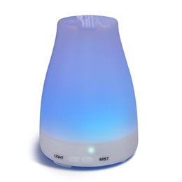 Wholesale Led Humidifier Water - 100ml Mini Aroma Diffuser Essential Oil Cool Mist Humidifier with Adjustable Mist Mode No Water Auto Shut-off 7 Color LED Lights Changing